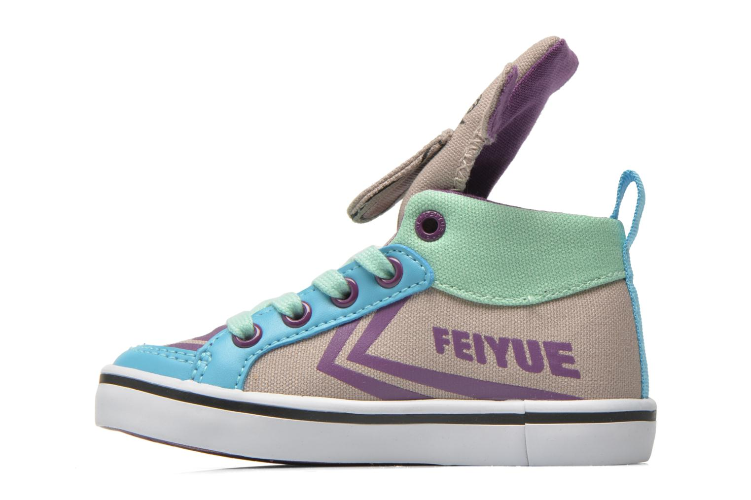 Trainers Feiyue Delta Mid Animal Grey front view